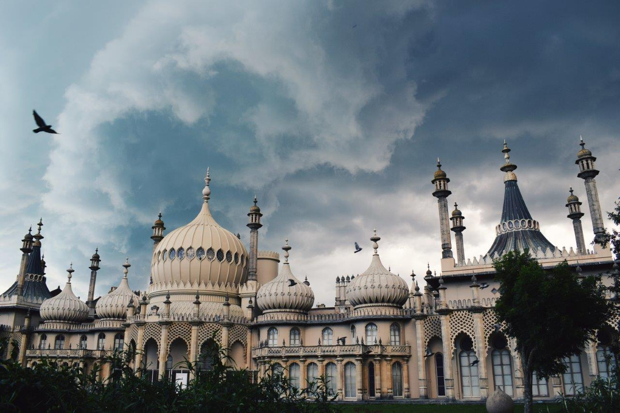 brighton pavilion in winter