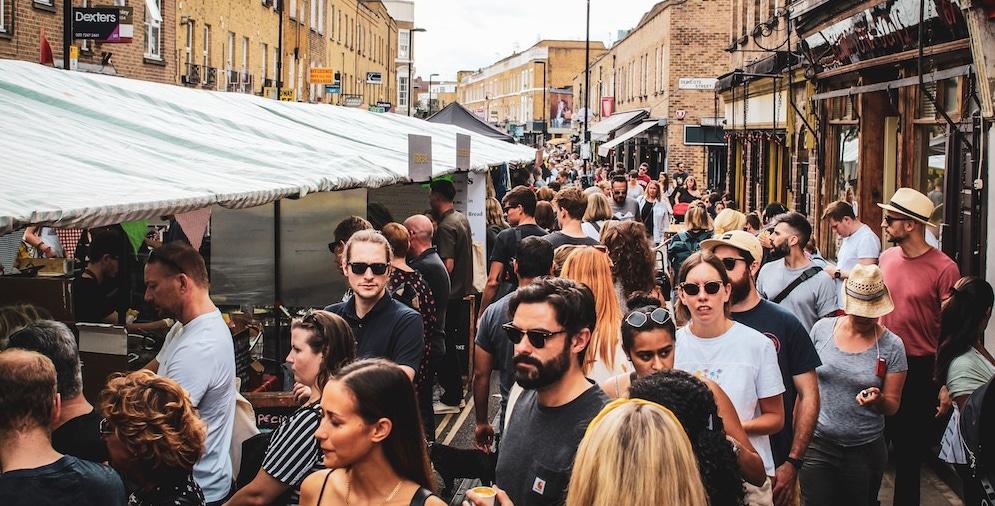 London outdoor markets open